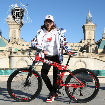 KUBEEN mountain bike 26-inch steel 21-speed bicycles dual disc brakes variable speed road bikes racing bicycle 2