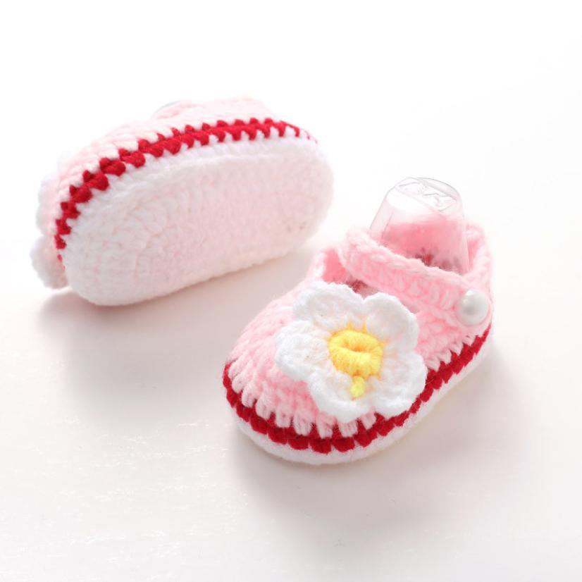 baby shoes flower first walker Crib Crochet Casual Baby Woolen Girl  Handmade Knit Sock Daisy Infant - Popular Woolen Socks For Kids-Buy Cheap Woolen Socks For Kids Lots