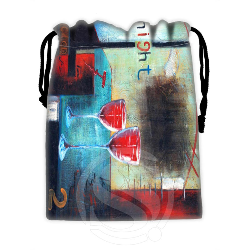 New Famous Western Oil Painting #24 Custom Logo Printed  Receive Bag  Bag Compression Type Drawstring Bags Size 18X22cm T902#B24