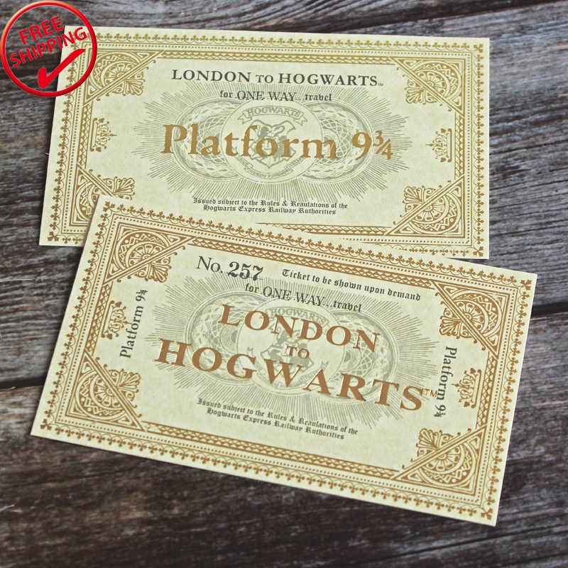 1 piezas Harry Londres a Hogwarts Express réplica billete de tren de la plataforma NO 257 para una forma de 10,8*6,2 cm envío gratis Hp Prop