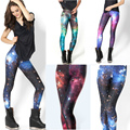2017 New Sexy Digital Printed Galaxy Leggings for women Milky Way Pencil Pants Ladies Fashion slim Galactic trousers jeggings