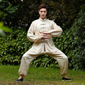 New Arrival Chinese Men's Classic Tai Chi Uniform Cotton Linen Kung fu Suit Wu Shu Clothing Size  M L XL XXL XXXL NS011