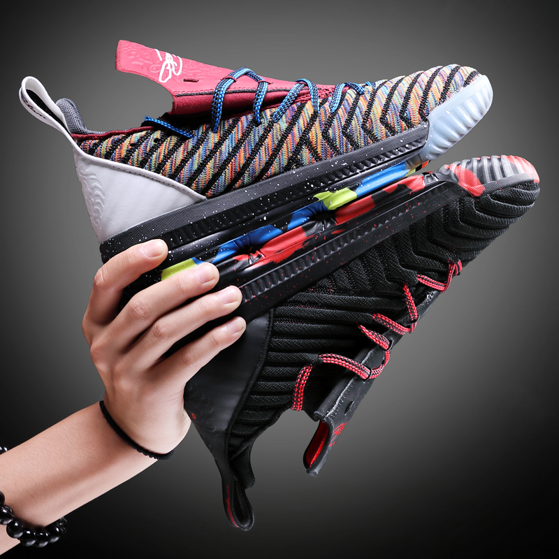 2019 New Basketball Shoes Lebron Shoes For Men Women High-Top Breathable Nonslip Basketball Sneakers Shockproof Mens Sport Shoes
