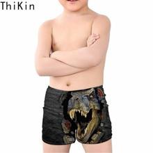 THIKIN Cool 3D Animal Dinosaur Printing Boys Swimming Trunks Bathing Suits Baby Boy Swimsuit  Beach Summer Swimwear Sbort 2019