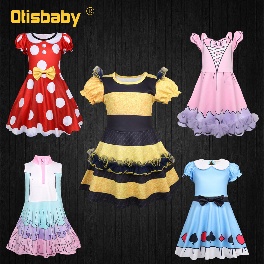 2019 Birthday Girl Lol Party Dress Toddler Baby Halloween Carnival Dolls Costume Summer Kids Fancy Floral