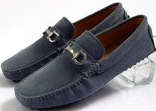 Eur 38 — 44 замша пряжка свободного покроя туфли-пенни мокасины мужские Bussiness обувь вождения автомобиля обувь мокасины 4 цветов