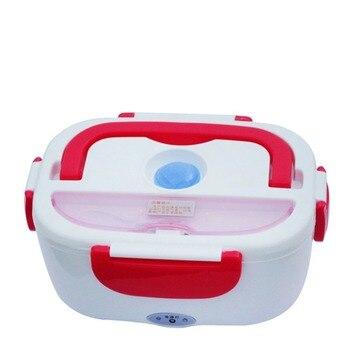 Fornello di Riso Mini Auto Elettrica calda di Calore Isolamento Termico Lunch Box di Ricarica Multi Funzionale Spina Sigillo Scatola di Plastica Posate