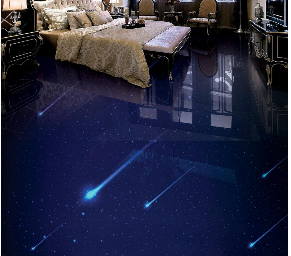 Custom photo floor wallpaper 3d sky 3d wallpaper 3d floor for Bathroom floor mural sky