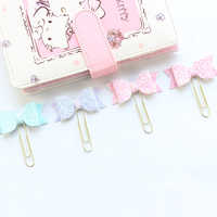 Domikee cute kawaii sequin Japanese office school metal paper clips bookmark set for planner notebooks stationery supplies 4pcs
