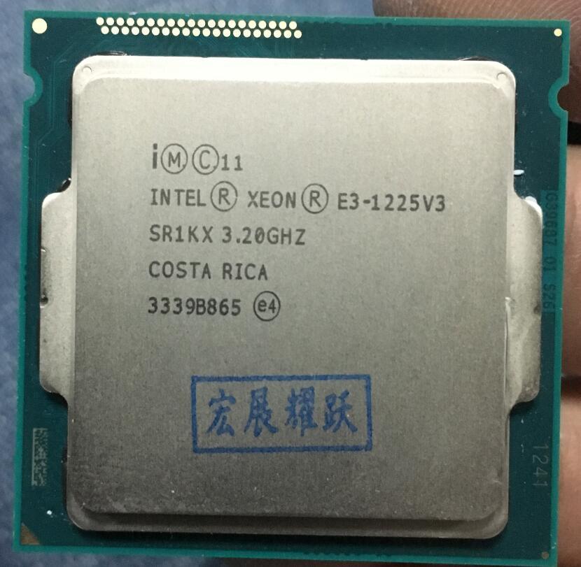 Processeur Intel Xeon E3-1225 v3 E3 1225 v3 E3 1225V3 (Cache 6 M, 3.2 GHz) processeur Quad-Core CPU de bureau LGA1155