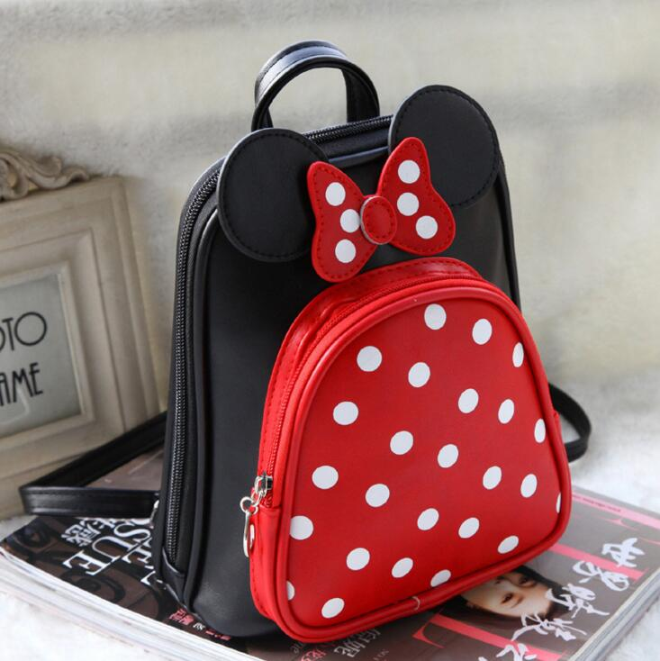 new style children backpacks girls cartoon minnie dot Backpack kids lovely princess schoolbags in stock рюкзаки zipit рюкзак shell backpacks