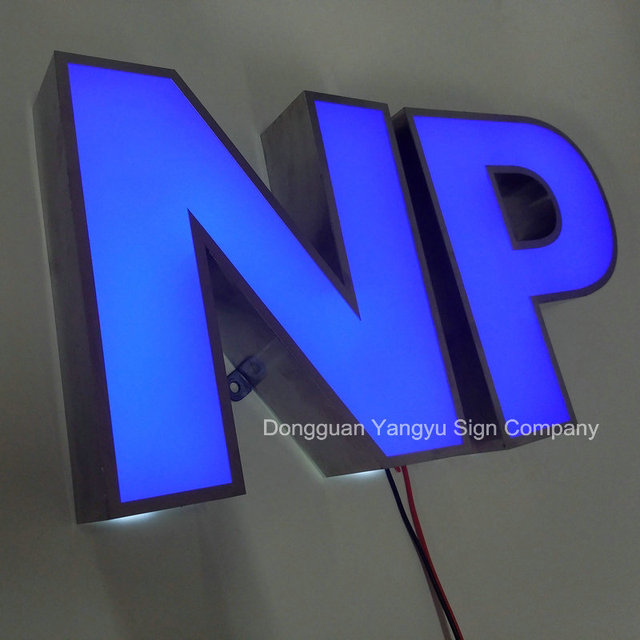 acrylic led channel letters signs 3d lettering exposed