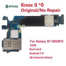 BINYEAE разблокированная основная материнская плата Замена для samsung Galaxy S7 G930FD (двойная Duos карта) 32 Гб