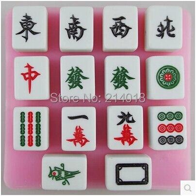 Free shipping sell hot Mahjong silicone mold chocolate mold fondant cake mold Jelly pudding font b