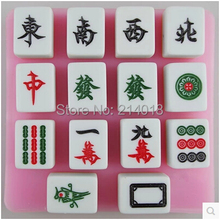 Free shipping sell hot Mahjong silicone mold chocolate mold fondant cake mold Jelly pudding food safety