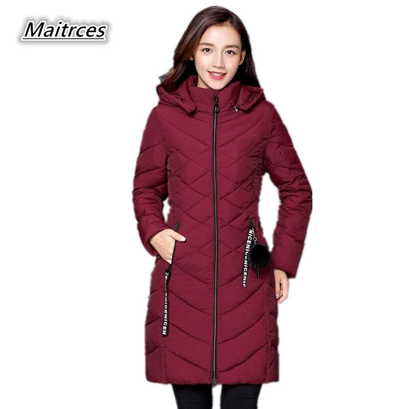2018 Winter Jacket Women Thick Down Cotton Parkas Ladies Large Size Loose Warm Jacket Fashion Female Hooded Coats MF010
