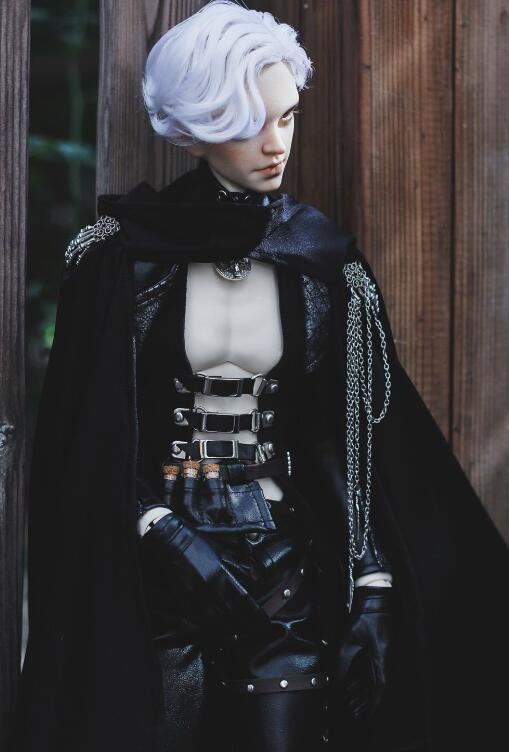 Accept custom European style Black leather Suit BJD 1//3 SD SSDF Doll Clothes