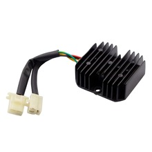 GOOFIT 6 Pin 12V Voltage Regulator Rectifier for Honda Elite CH150 CH150D Scooter ATV H055-007