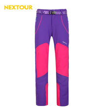 NEXTOUR outdoor pants  Women Softshell Pants Thermal windproof Trousers with fleece Waterproof warm winter hiking camping