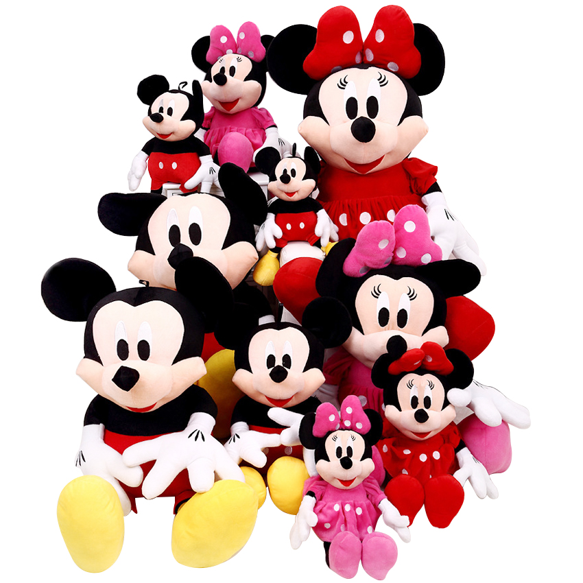 1pcs 28cm Minnie And Mickey Mouse Low Price Super Plush Doll Stuffed Animals Plush Toys For Children's Gifts 1 piece 35cm 13 7 mickey mouse plush toys doll for kids gifts