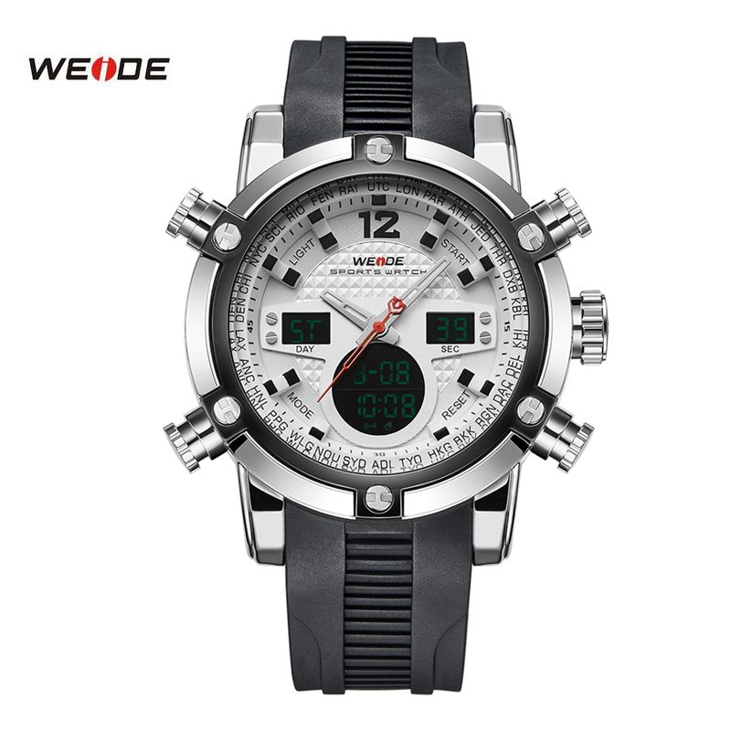 Luxury Brand New WEIDE Sport Watch Men Relogio Fashion Casual LED Digital Male Black Military Quartz Wristwatch 5205 watch men led digital waterproof wristwatch casual man sport watches 2017 new weide famous brand saat erkekler horloges mannen
