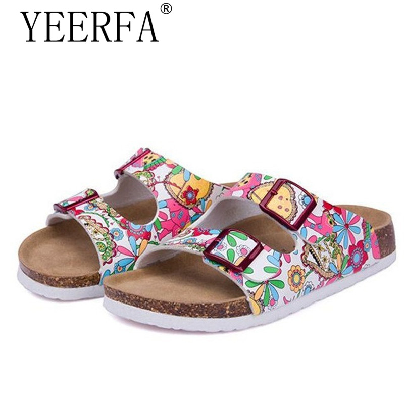 YEERFA New Summer Beach Cork Slippers Sandals Casual Double Buckle Clogs Sandalias Women Slip On Flip Flops Flats Shoe Plus Size wolf who summer women slippers buckle flats sandals fashion beach sandals leisure sandalias mujer high quality flip flops women