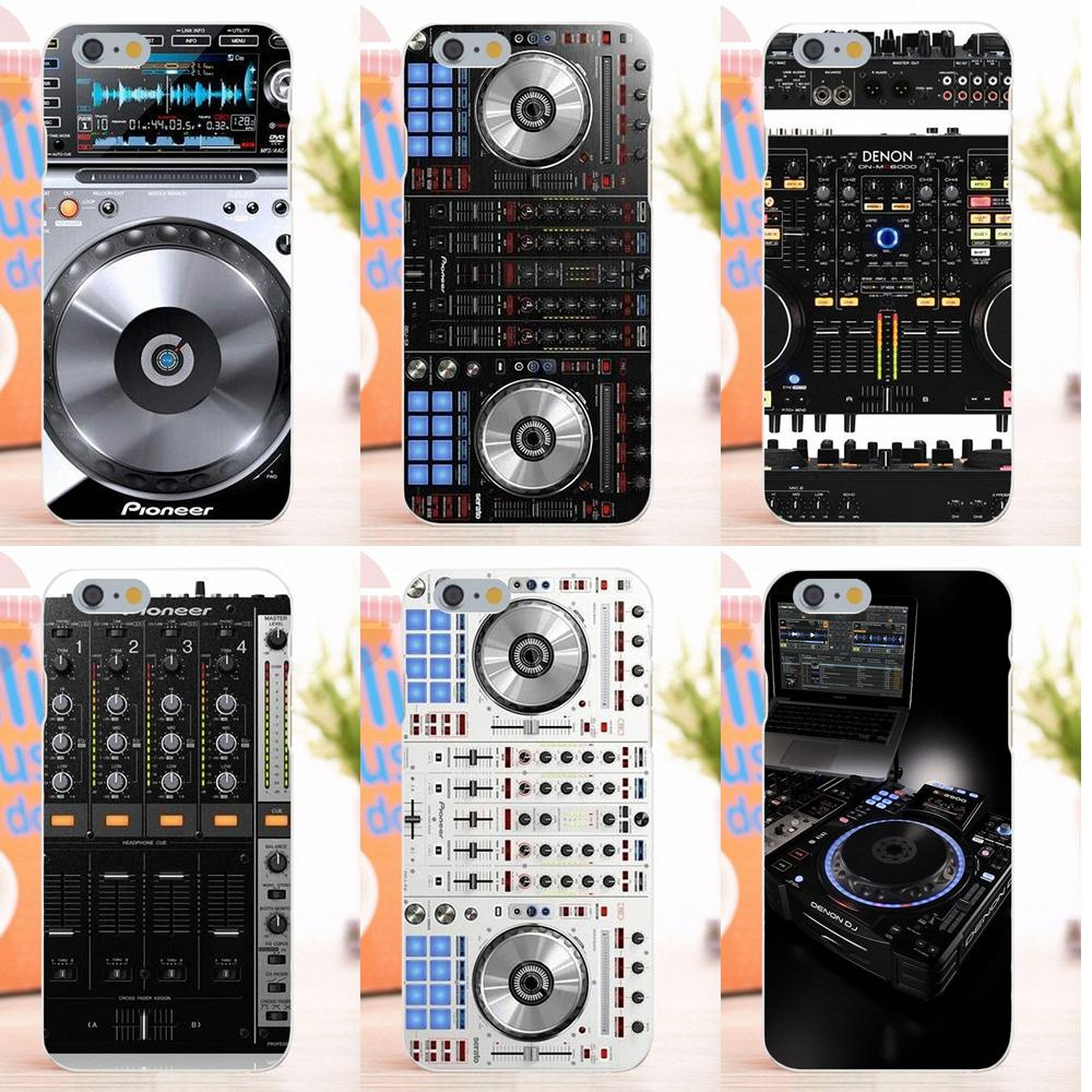 EJGROUP Digital Mixer Dj Turntable Soft Silicone TPU Transparent Capa Cover Case For iPhone 4 4S 5 5S 5C SE 6 6S 7 8 X Plus