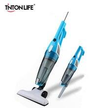 TintonLife Nueva Ultra Silencioso Mini Hogar Aspiradora Varilla Portátil Colector de Polvo Aspirador de Casa de Color Blanco y Azul