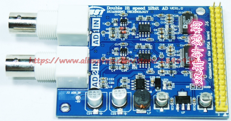 New High-Speed AD9226 12bit Dual AD Module Development Board Expansion Board