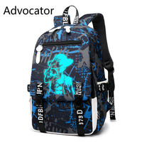 Advocator 2018 New 33L Large Capacity Backpack Creative Glowing Backpack Bag School Bag Oxford Backpack 1218