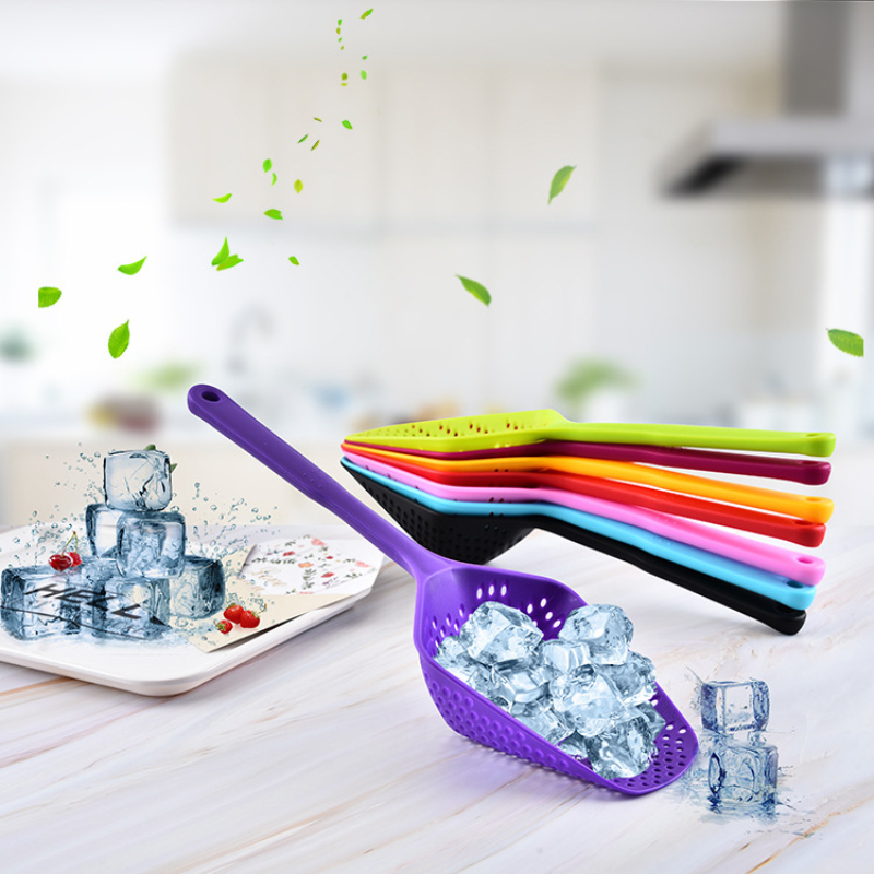 No-stick Plastic Kitchen Colanders Gadget Cooking Tool  Drain Shovel Strainers Water Leaking Ice Fishing Fence