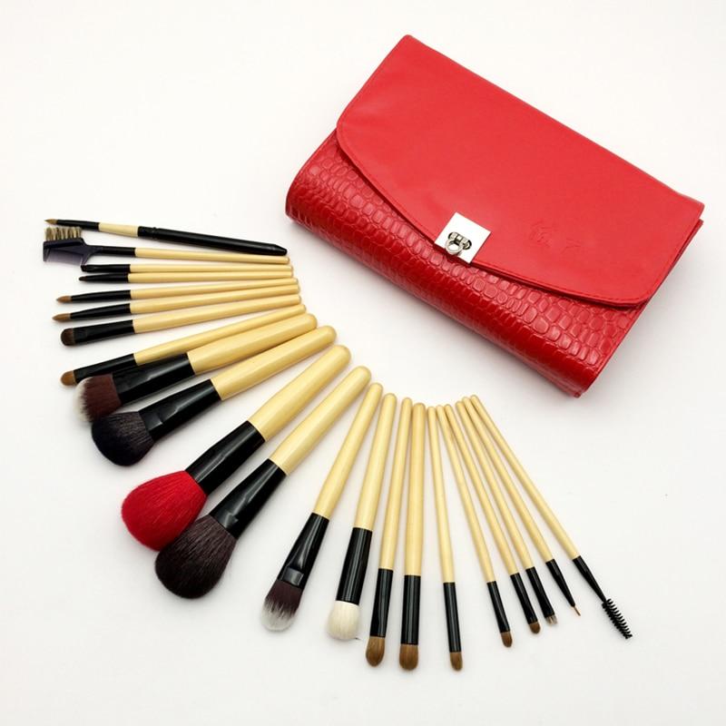 Professional 22 pcs Makeup Brushes Sets High-grade Animal Bristles Make Up Tools  Portable Fashionistas Cosmetics Brushes Kits