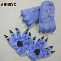 Unisex Adult Gloves Cotton Warm Winter Paws Cute Cartoon Animal Cosplay Casual Home Indoor For Women