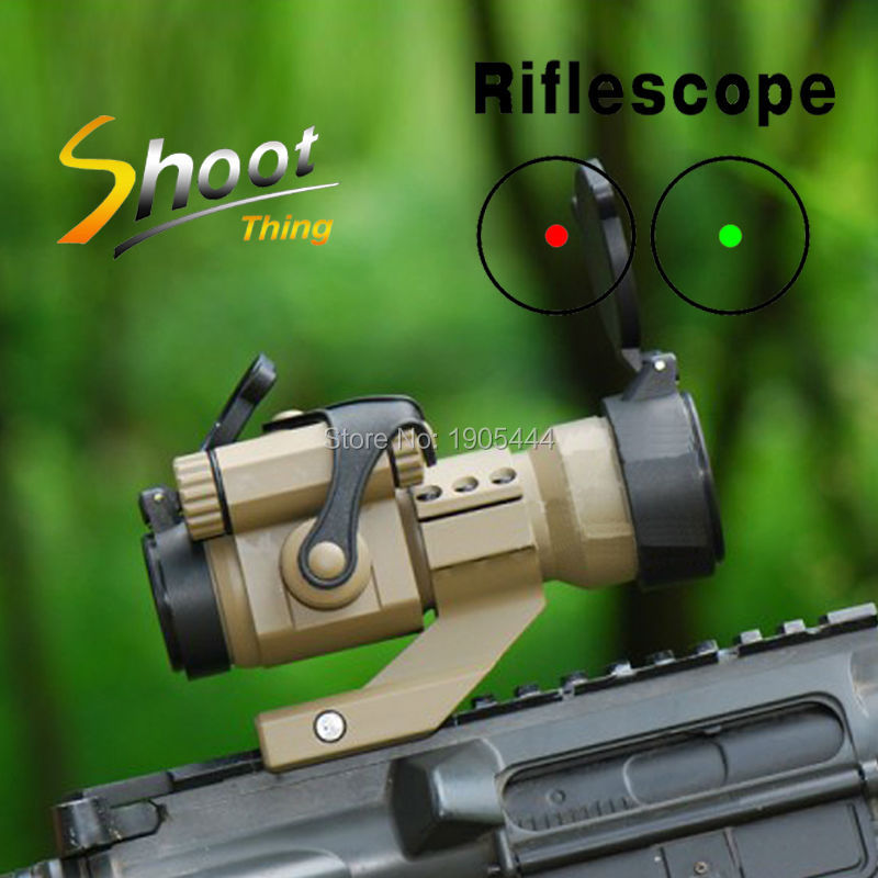 ST5033+ST5034 20mm Weaver Rail Cantilever Mount and Tactical 1X32 Red Dot Rifle Scope Optical Sight with Kill Flash Riflescope greenbase low mount 5 moa red dot sight tactical riflescope 1x32 optics rifle scope with kill flash nga0237