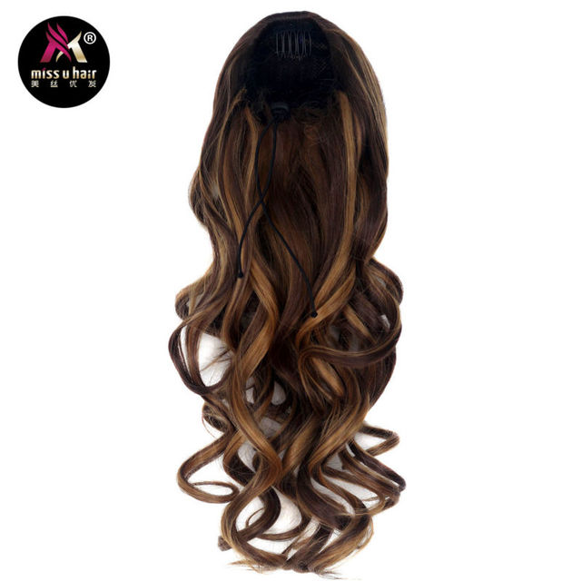 Miss U Hair 20 50cm 150g Women Long Curly Ponytails Clip In On Hair