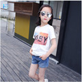 2016 new T-shirts for girls summer cartoon bobo choses kids clothes Children's cotton short-sleeved children's clothing 20#
