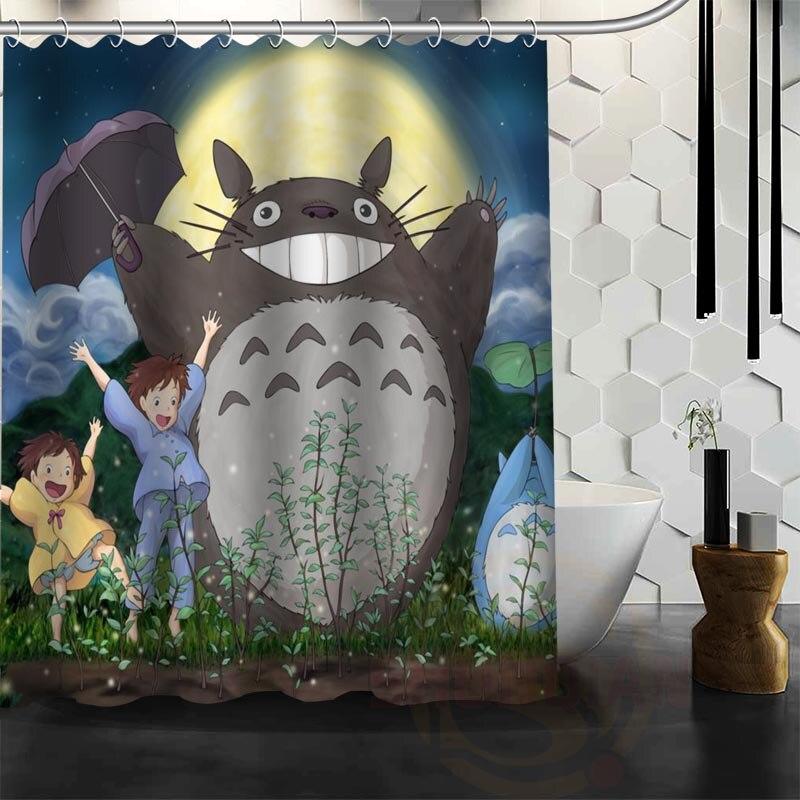 Best Nice Custom My Neighbor Totoro Shower Curtain Bath Curtain Waterproof  Fabric Bathroom MORE SIZE WJYu002654