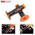 "Orange KTM Accessories Motorcycle Handle Grip Dirt Bike Motocross 7/8"" Handlebar Rubber Gel PRO Hand Grips Brake Hands"