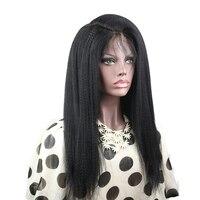 Eseewigs Full Lace Wigs Ý Yaki Straight Glueless Brazil Remy Tóc Giả Tóc con người Cho Phụ Nữ Da Đen Side Phần Bé Tóc xung quanh