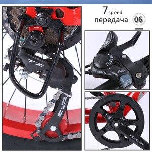 """Image 2 - Wolfs fang bicicleta de montaña para mujer y niño, bici de 7 /21 velocidades, de 2,0 """"X 4,0"""", con freno de disco de bicicleta ancha"""