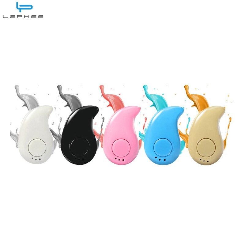 LEPHEE Super Mini Bluetooth Earphones In-Ear Sport Invisible Wireless Bluetooth Earphone Stereo Ear Phones Earbuds For Xiaomi LG