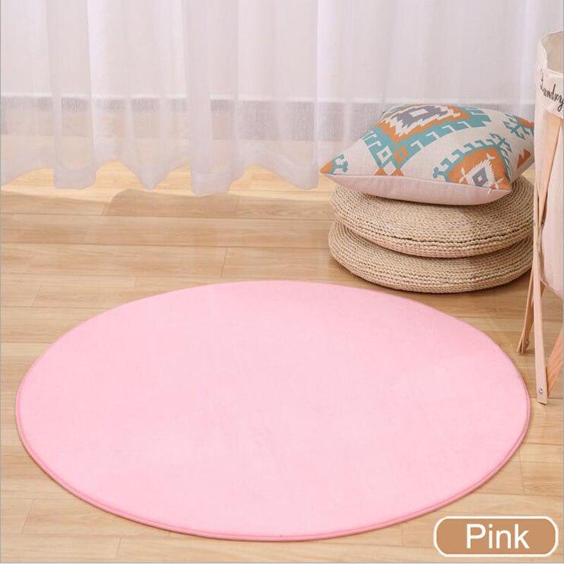 ONEONEY 80*80 простые приветственные круглые коврики с принтом для ванной, кухни, коврики для гостиной, противоскользящие - Цвет: 04