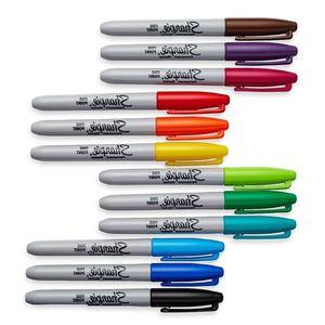 Image 5 - 12/24 farben/box Öl Amerikanischen Sanford Sharpie Permanent Marker, umweltfreundliche Marker Stift, sharpie Fine Point Permanent Marker