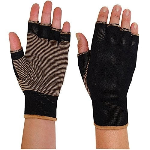 Copper Threaded Pain Releiving Arthritis Compression Gloves For Carpal Tunnel, Pain Releif, Computer Typing, And Everyday Support For Hands (1)