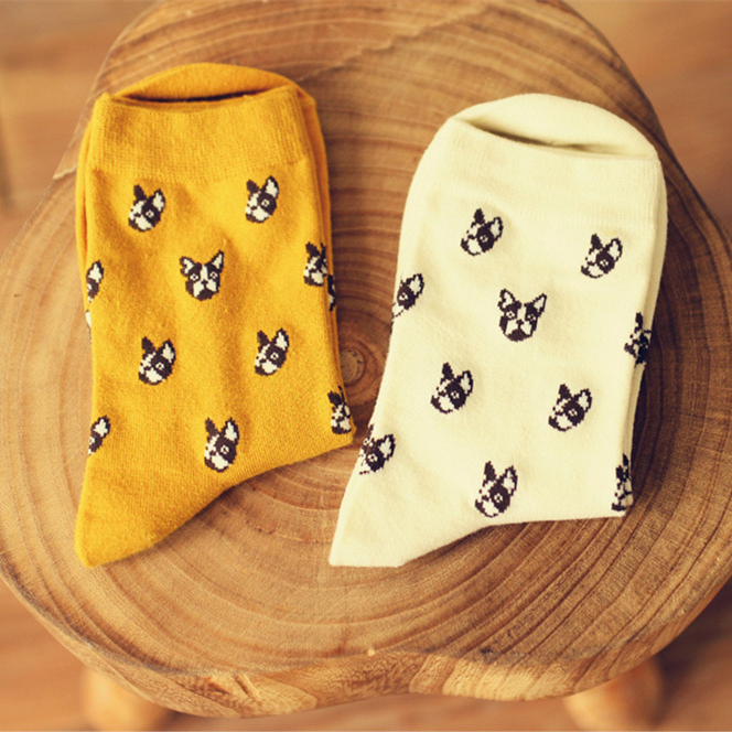 Adult Size Home Warm animal   socks   Bull Terrier Boston Dogo Terror bullterrier buldog stamp breed retail wholesale zoo Pet Home