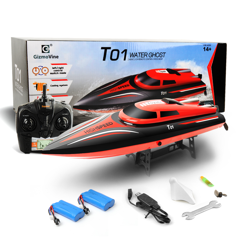 GizmoVine RC Boat Toy H101 2 4GHz High Speed 30km h 180 Degree Flip with Servo