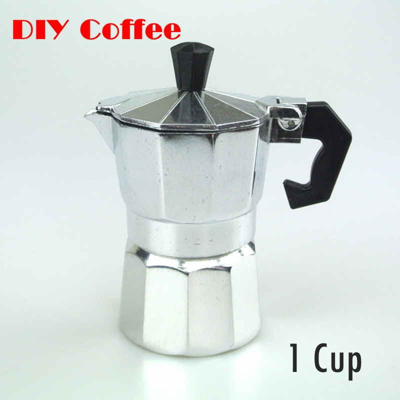 Coffee Maker One Cup Or Pot : 1 PC Free Shipping 1cup Aluminum Moka Pot Coffee Maker 1Cup Counted Mocha Pot Espresso Coffee ...