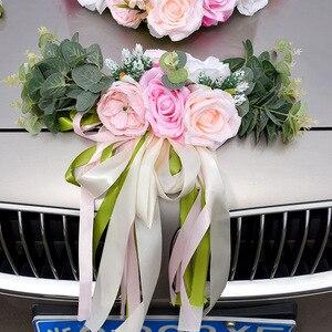 Image 2 - Kyunovia Hochzeit Auto Zubehör Auto Dach Schwanz Simulation Dekoration Hochzeit Auto Dekoration Blume KY131