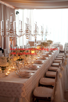 4pcs 5 arms European classical/crystal candlestick/wedding decoration home party gifts essential/pure crystal chandelier