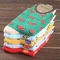 Mujeres calcetín lindo del plátano fruta ocasional primavera summer acogedor algodón calcetines cortos medias para gril